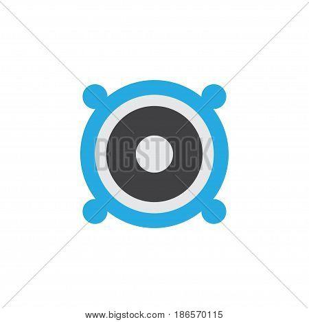 Bullhorn Flat Icon Symbol. Premium Quality Isolated Loudspeaker Element In Trendy Style.