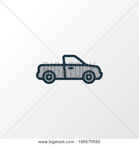 Pickup Colorful Outline Symbol. Premium Quality Isolated Auto  Element In Trendy Style.