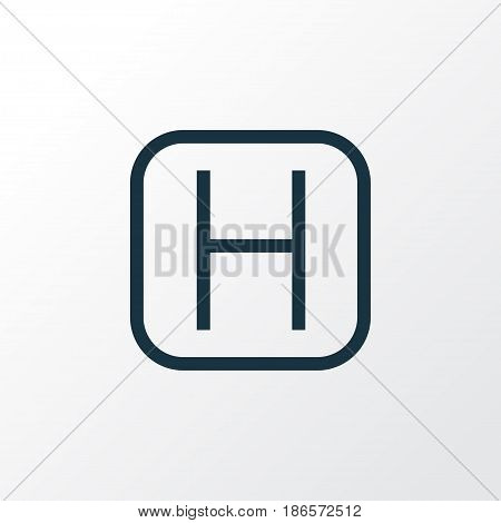Polyclinic Outline Symbol. Premium Quality Isolated Hospital  Element In Trendy Style.