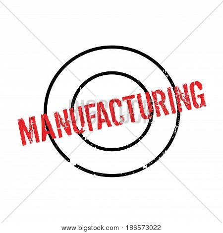 Manufacturing rubber stamp. Grunge design with dust scratches. Effects can be easily removed for a clean, crisp look. Color is easily changed.