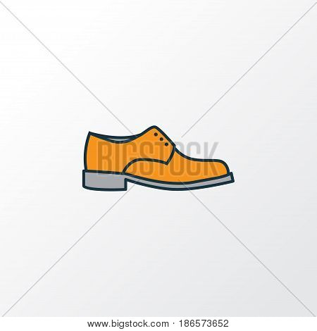 Boots Colorful Outline Symbol. Premium Quality Isolated Man Footwear Element In Trendy Style.