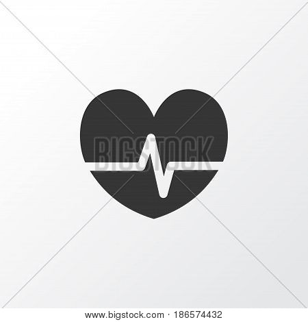 Pulse Icon Symbol. Premium Quality Isolated Rhythm Element In Trendy Style.