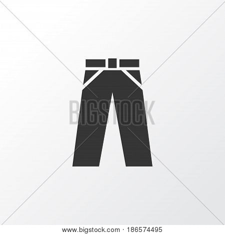 Trousers Icon Symbol. Premium Quality Isolated Pants Element In Trendy Style.