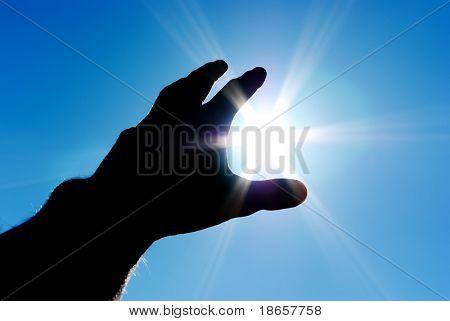 Sun in hand. Conceptual design.