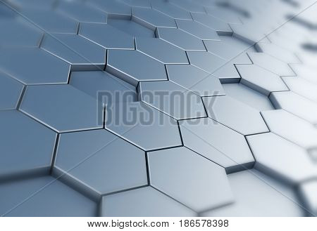 Hexagon background. Abstract background which can be used as a design element. 3d illustration