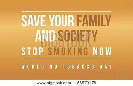 Background no tobacco day collection stock vector flat