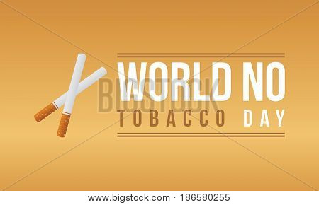 Vector art world no tobacco day collection stock