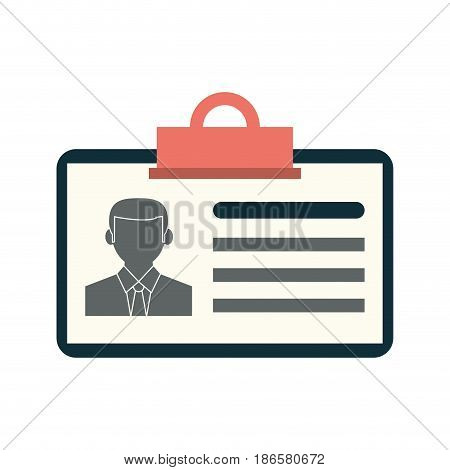 work id card icon image vector illustration design