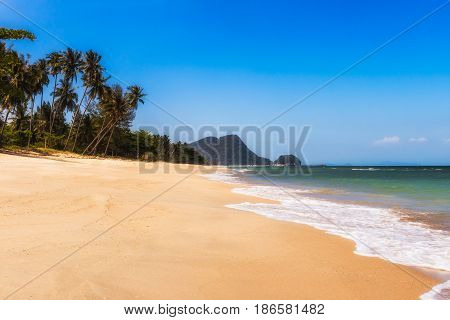 tropical beach in Thailand ,beautiful seascape and blue sky