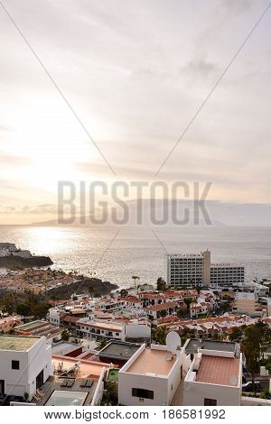 Spanish View Landscape in Tropical Volcanic Canary Islands Spain