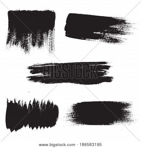 Vector grunge background elements. Textured hand drawn brushstrokes.