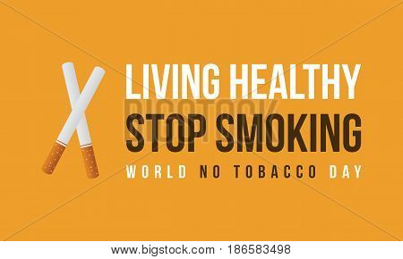 Background of no tobacco day vector flat collection stock