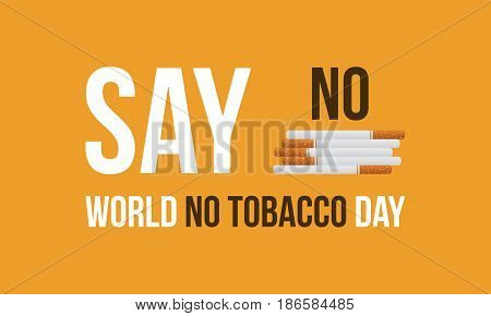 Collection stock world no tobacco day vector flat
