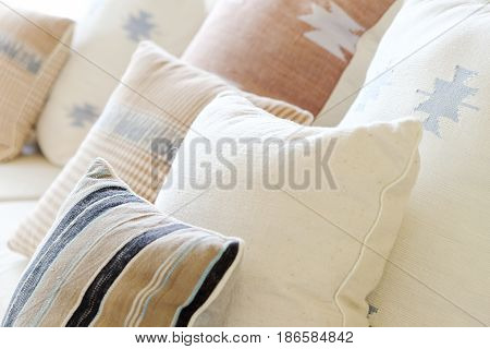 Detail  image of Cushion on sofa in modern living room