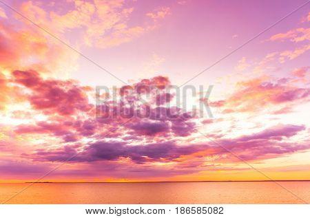 Setting into the Sea Burning Skies