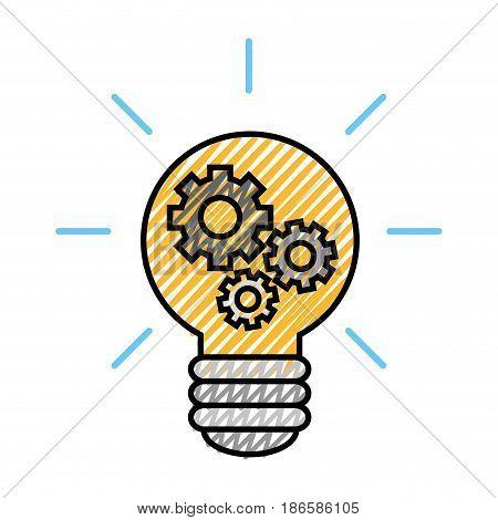 Big idea bulb symbol icon vector illustration graphic design