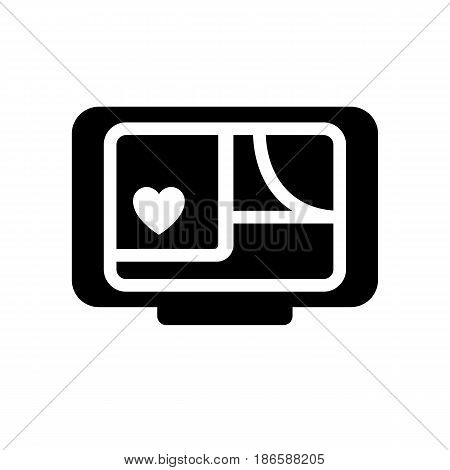 Navigator of love. Black icon isolated on white background