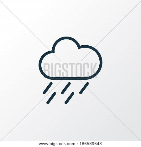 Rainstorm Outline Symbol. Premium Quality Isolated Drizzle Element In Trendy Style.