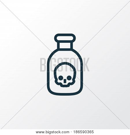Poison Outline Symbol. Premium Quality Isolated Venom  Element In Trendy Style.