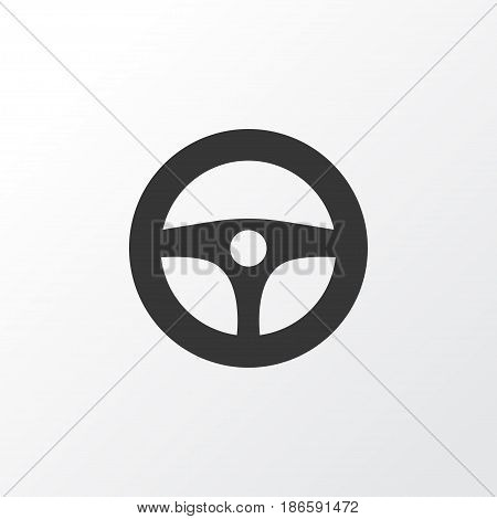 Steering Wheel Icon Symbol. Premium Quality Isolated Drive Control Element In Trendy Style.