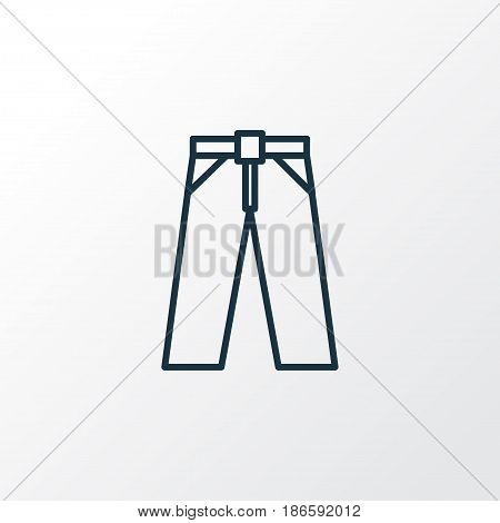 Trousers Outline Symbol. Premium Quality Isolated Pants Element In Trendy Style.