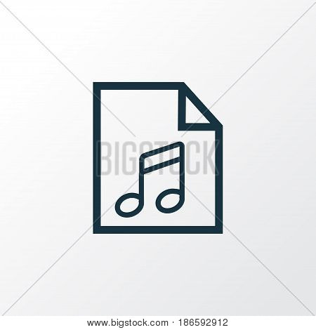 Play List Outline Symbol. Premium Quality Isolated Soundtrack Element In Trendy Style.