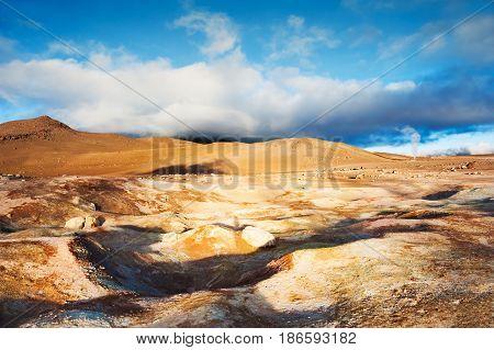 Geysers Sol De Manana On Altiplano, Bolivia