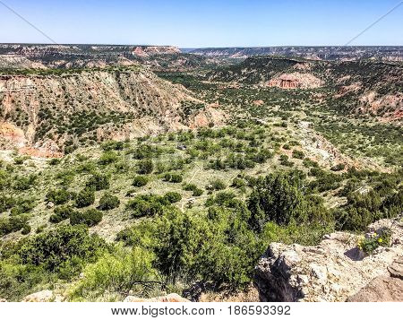 Canyons Of Palo Duro State Park In Canyon Texas