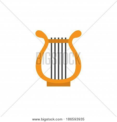 Philharmonic Flat Icon Symbol. Premium Quality Isolated Sonata Element In Trendy Style.