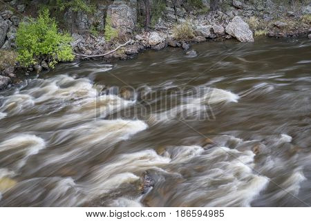 rapid on the Cache la Poudre River in Big Narrows, Colorado