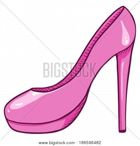 Vector Pink Women Highheels Shoes