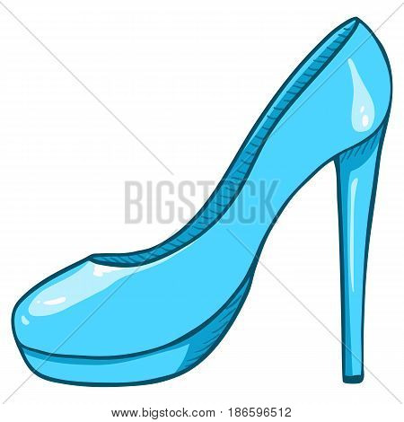 Vector Turquoise Women Highheels Shoes