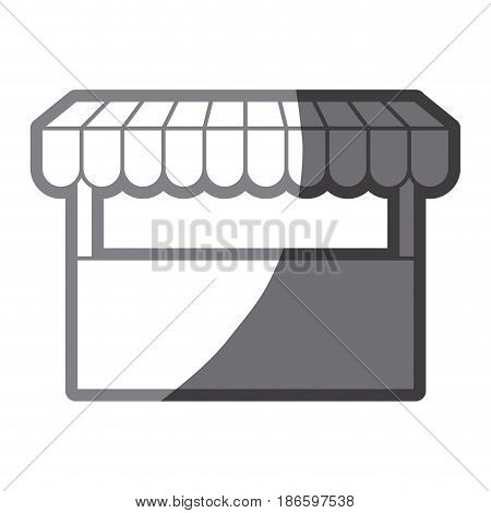 grayscale silhouette of store icon vector illustration