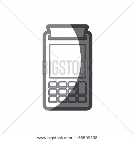 grayscale silhouette of payment terminal vector illustration