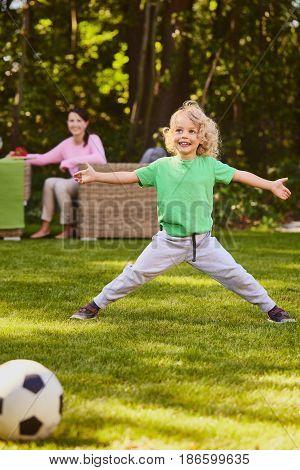 Son Defending The Goal
