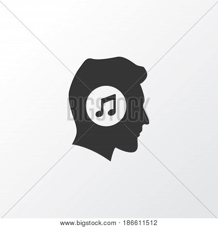 Music Lover Icon Symbol. Premium Quality Isolated Meloman Element In Trendy Style.