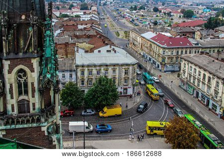 Gothic church of St. Elisabeth, Lviv, Ukraine