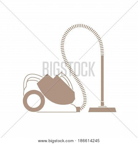 Stylized Icon Of A Colored Vacuum Cleaner