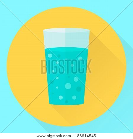 Vector Flat Icon Cup Of Water