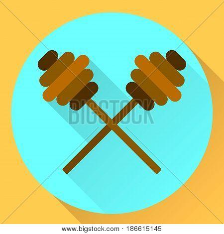 Vector Flat Icon Sticks For Honey