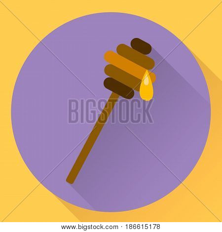 Vector Flat Icon Stick For Honey