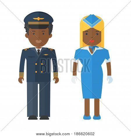 Black People Airplan Staff
