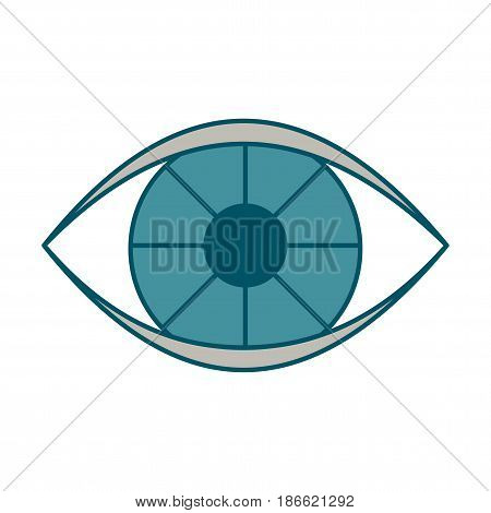 Eye black icon. Flat vector cartoon illustration. Objects isolated on a white background.