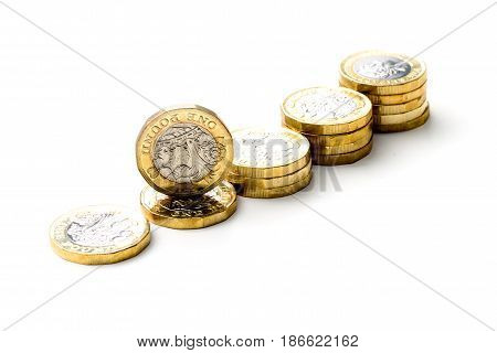 New British One Pound Sterling Coin Chart Rate.