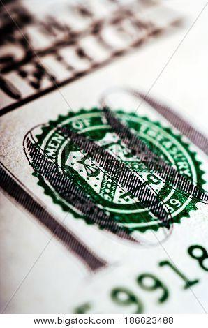 Hundred Dollar Bill - Macro Nb. 10