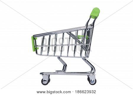 Shopping cart isolated on white background.(With clipping path.)