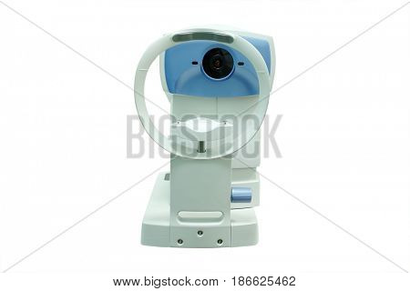 Medical equipment of ophthalmologist in a doctor room