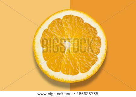 Orange On Colorful Background