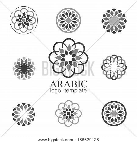 Mandalas collection. Arabic ornament vector round pattern elements.