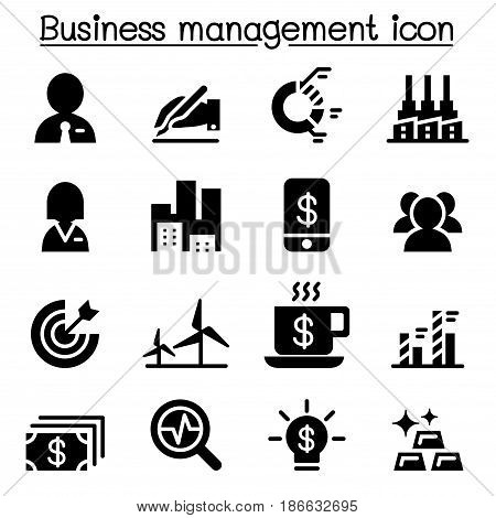 Stock market Business management icon set  vector illustration graphic design